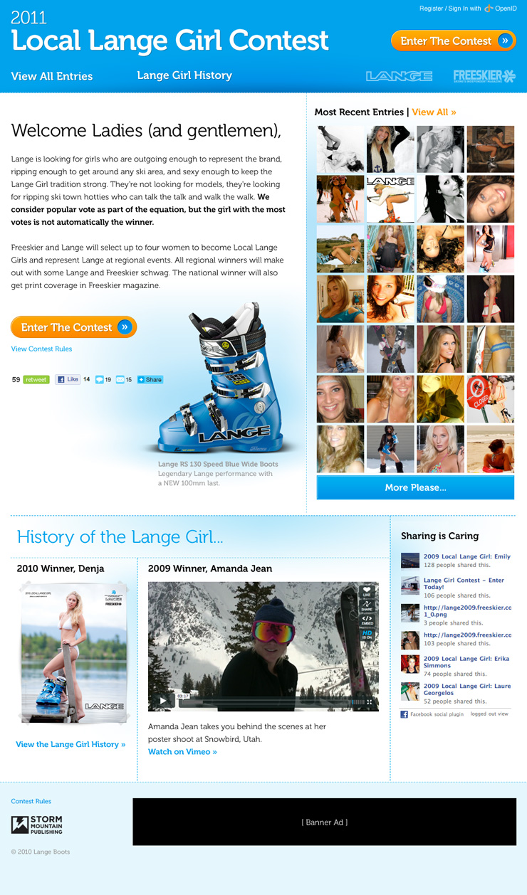 Local Lange Girl Contest Site
