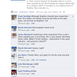 Facebook comments on a re-post by Dave Amirault