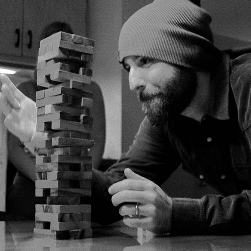 joe playing jenga